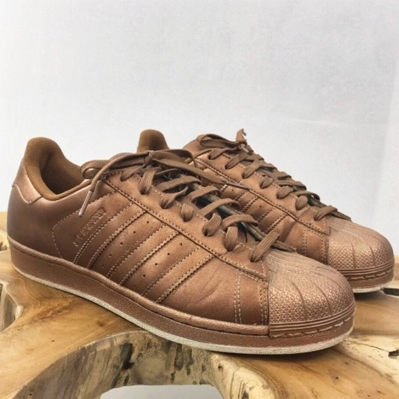 newest 56115 273ec Adidas superstar bronze copper sneakers